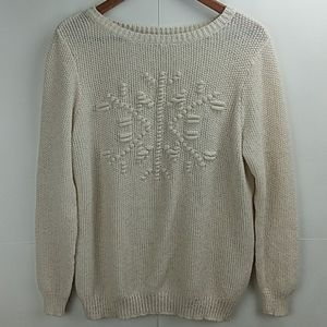 LC LAUREN CONRAD Snowflake Sweater XL